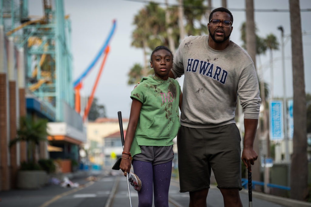 Zora Wilson (Shahadi Wright Joseph) and Gabe Wilson (Winston Duke) in Us, written, produced and directed by Jordan Peele.